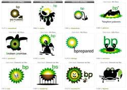 exemples de détournements du logo bp