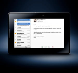 le playbook de rim, qui prépare une tablette professionnelle.