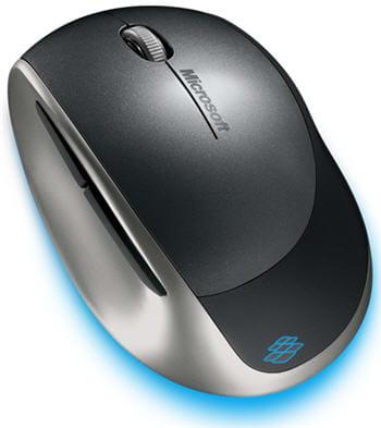 la souris explorer mini mouse, le blue track pour portables.