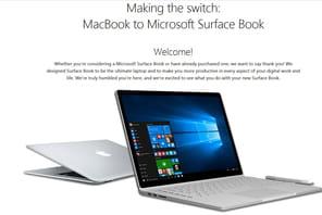 Microsoft vous guide pour basculer duMacBook au Surface Book