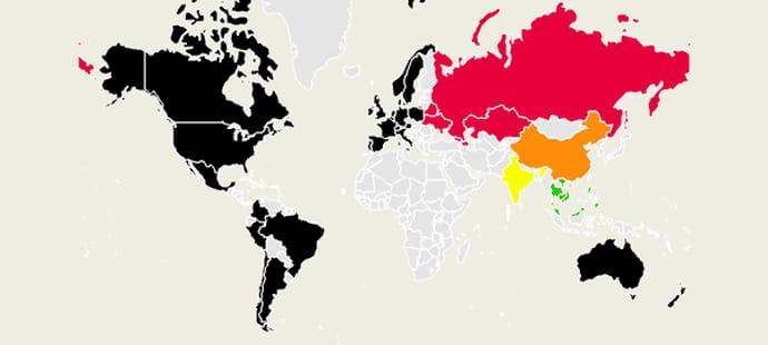 Carte: Uber attaqué par ses concurrents étrangers