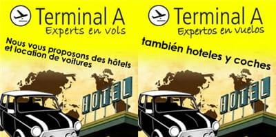 exemple de traduction d'une campagne pour le voyagiste terminal a en français et