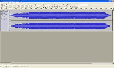 capture d'écran du logiciel audacity
