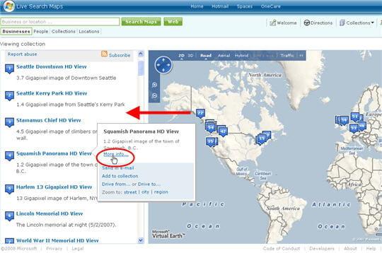 HD View, le moteur de recherche panoramique