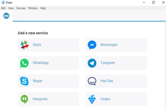 Franz réunit toutes vos apps de messagerie au sein d'une même plateforme