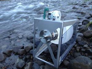 une microcentrale hydraulique en grande partie imprimée en 3d et utilisée au