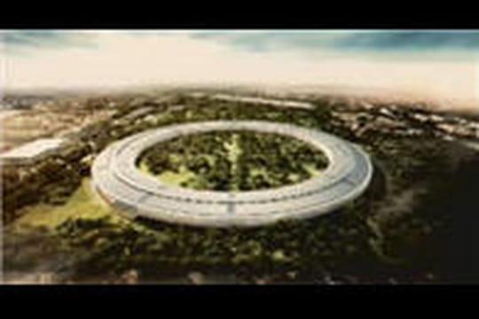 """Le futur campus en forme de """"vaisseau spatial"""" d'Apple en images"""