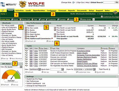 interface netsuite dédiée aux commerciaux dans le secteur de la distribution