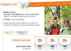 copie d'écran du site web d'orange