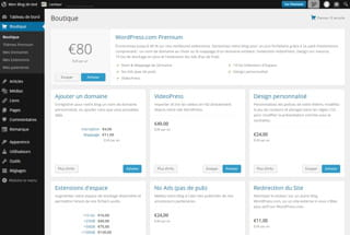 wordpress.com offre une interface équivalente à celle du cms historique.