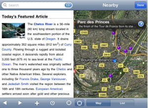 l'application mobile wikipedia