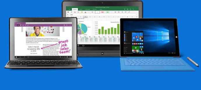 Windows 10 poursuit sa lente progression