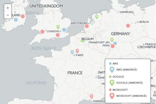 Quelle région européenne du cloud d'Amazon est la moins chère?