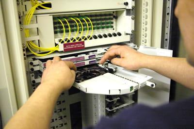 au sein des locaux techniques, des terminaux passifs permettent de gérer les