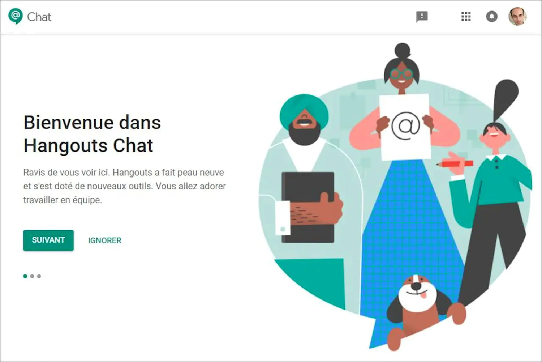 Google Chat(gratuit): la messagerie collaborative de Google