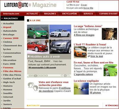 page d'accueil de linternaute.com