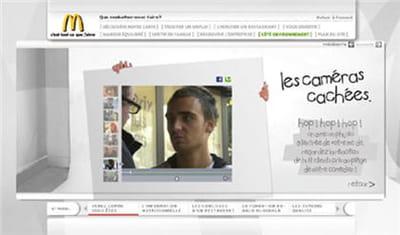 exemple de caméra cahchée diffusée sur le site mcdonalds.fr