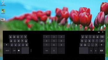 plusieurs claviers sont proposés par windows 8, dont un qui se prête plutôt bien