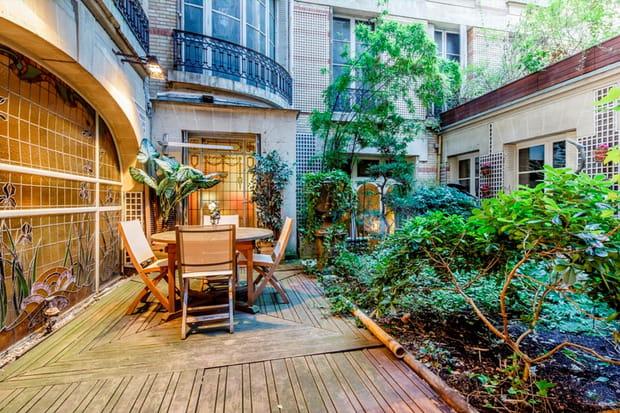 Un jardin arboré de 55m² à l'étage
