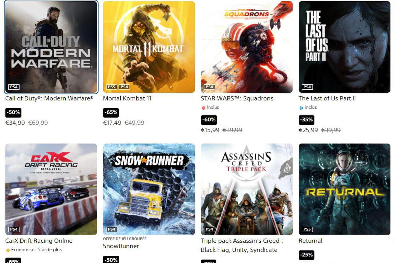 PS4:  grosses promotions sur 123jeux pendant une semaine