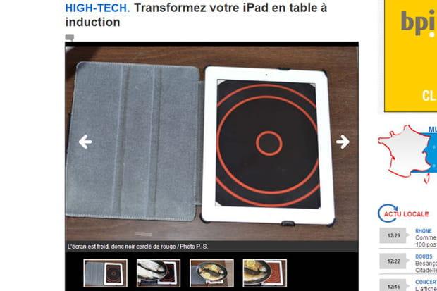 L'iPad-plaque à induction sur Le Progrès