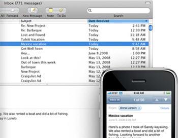 plusieurs emails peuvent être déplacés ou supprimés simultanément.