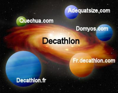 la galaxie web de decathlon