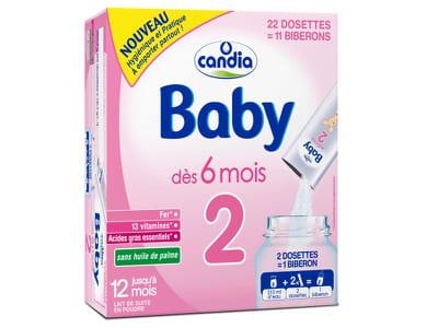 les dosettes de lait candia baby.