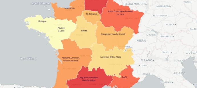 La face éco des nouvelles régions françaises