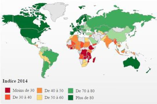 La carte du monde de la sécurité alimentaire
