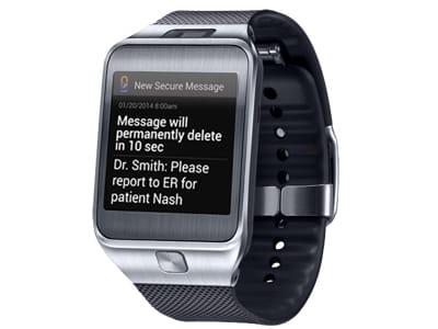 l'application envoie les messages urgents au médecin en moins de 10secondes.