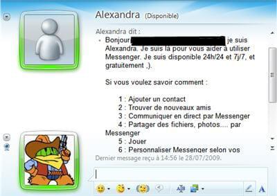ici, une assistance pour windows live messenger 2009