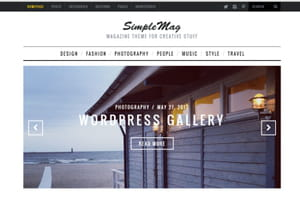 le thème simplemag se présente comme 'un thème magazine pour des créations'.