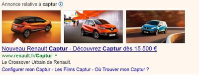 image in ads déployé pour la renault captur.