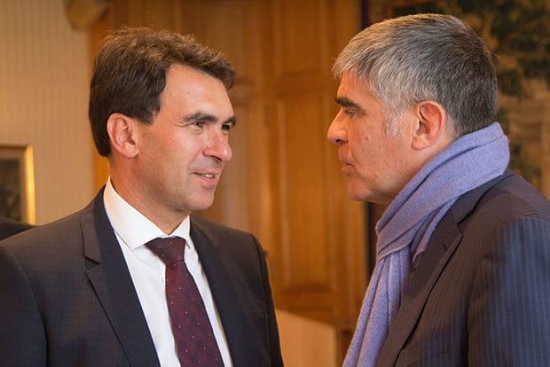Nicolas Sekkaki, nouveau  président d'IBM France, avec Christian Poyau, PDG de Micropole