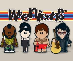 les weenicons sont des mini caricatures sur le thème de la culture pop.