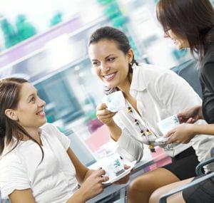 si cela vous détend, n'hésitez pas à prendre un café avec les autres.