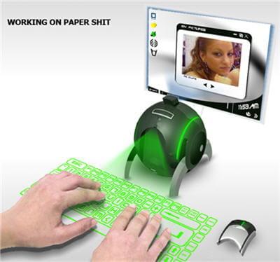 si l'e-ball tient dans une main, elle devient un ordinateur de bureau