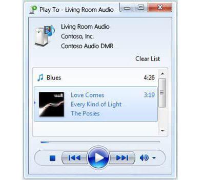 l'ordinateur contrôle la musique jouée dans toute la maison.