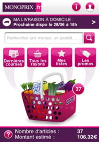 l'application m-commerce de monoprix