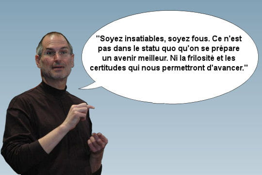 Steve Jobs encourage la prise de risque
