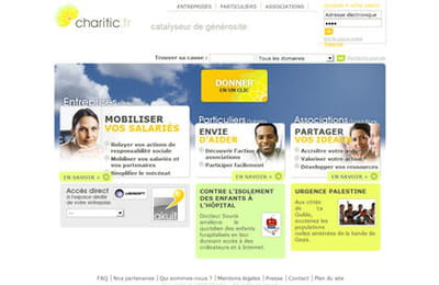 page d'accueil de charitic.fr