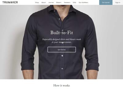 trumaker est un e-marchand d'habillement pour hommes se spécialisant dans le