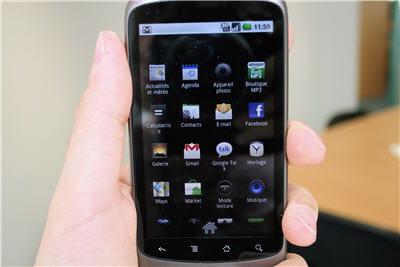 des applications à télécharger via l'androïd market.