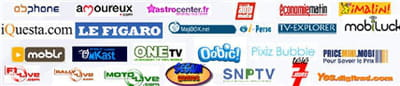 sites supports de publicité gérés par la régie mobile egs media