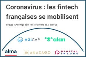 Infographie: les fintech françaises se mobilisent pendant la crise