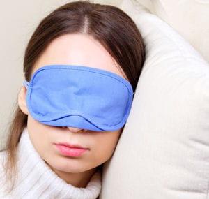 un masque vous permettra de vous endormir facilement.