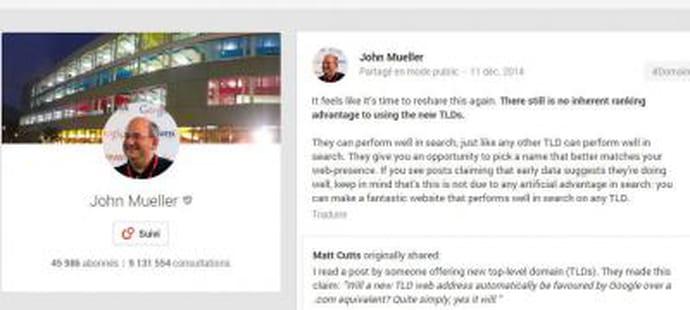 Nom de domaine : pas de bonus SEO pour les nouveaux TLD d'après Google