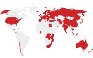 présence mondiale de vodafone.