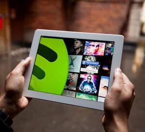 spotify a atteint une valorisation de 4milliards de dollars.